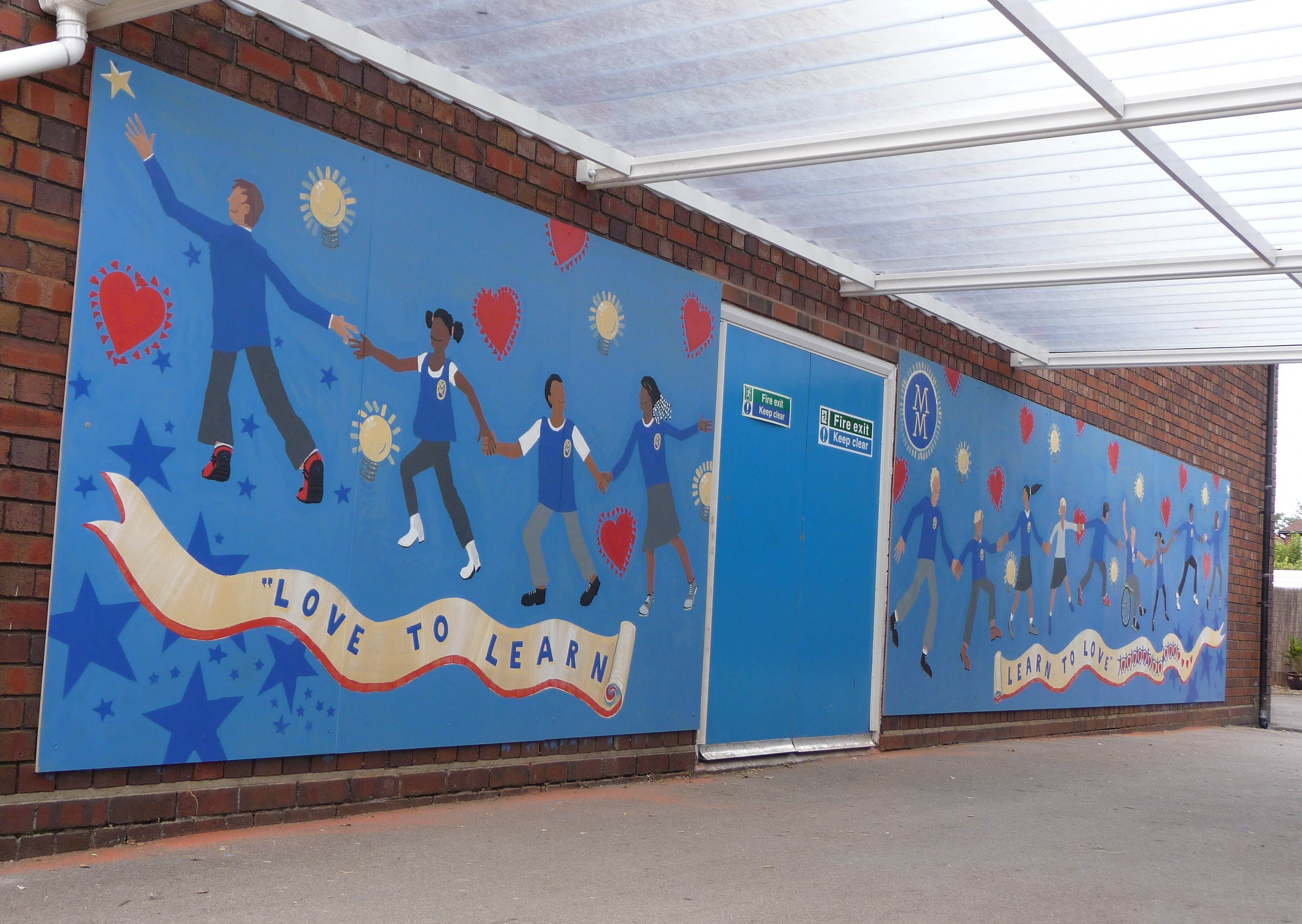 Children Mural made by Darrell